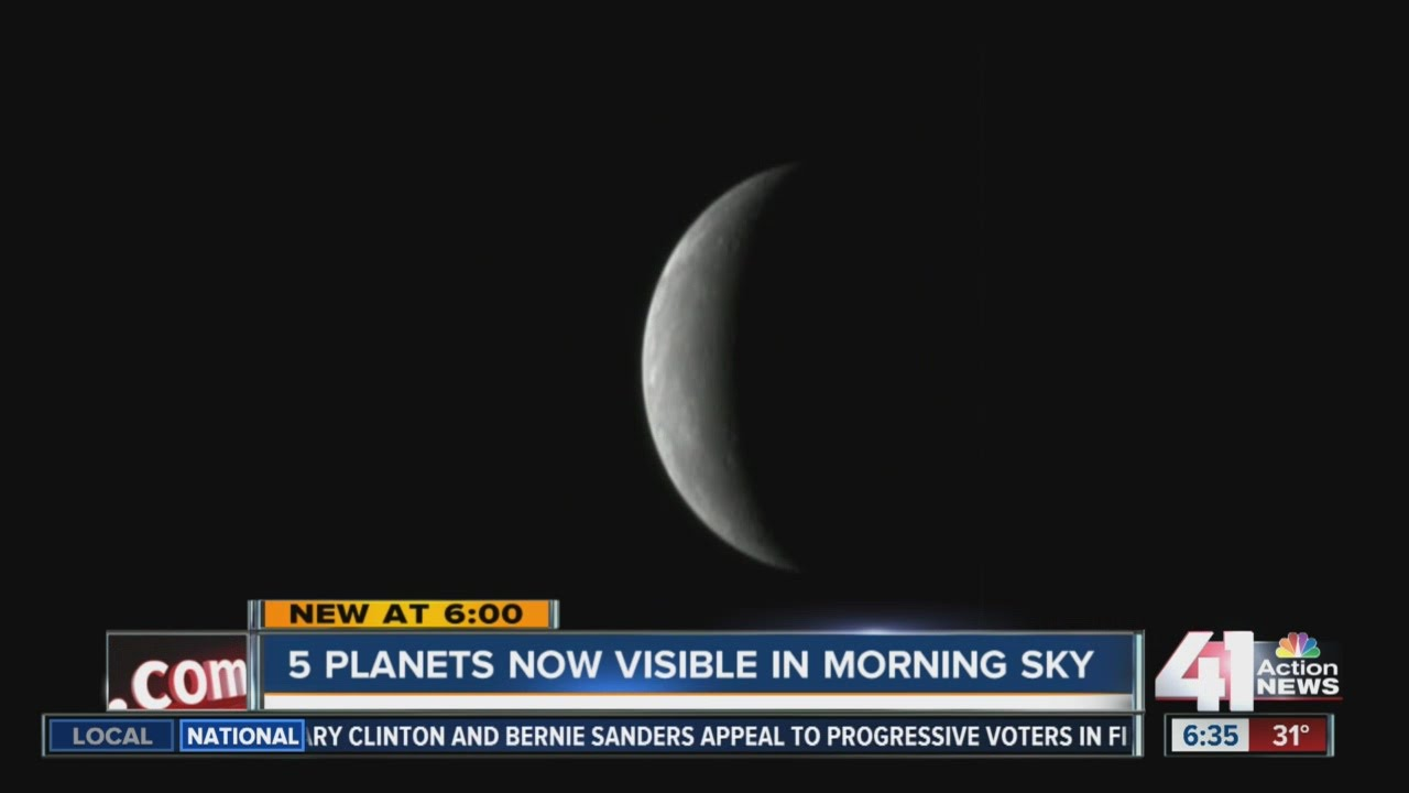 5 Planets Now Visible In Morning Sky Youtube