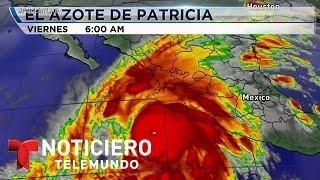 Huracán Patricia pasó de la nada a un monstruo pero se debilitó   Noticiero   Noticias Telemundo