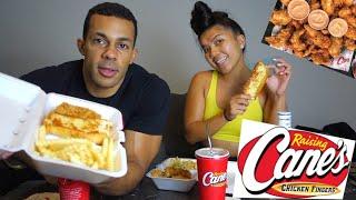 Raising Canes Chicken aฑd Fries Mukbang | Lets Eat