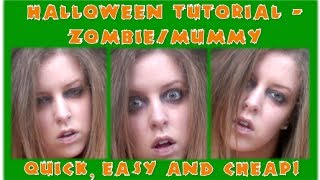 Quick, Easy and Cheap! Last minute Halloween Tutorial - Zombie/Mummy Thumbnail