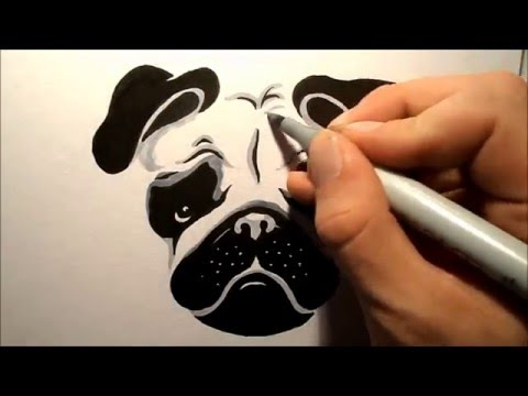 how to draw a pug face step by step easy