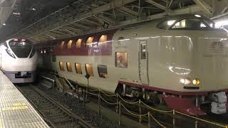 JR東日本E657系ときわ JR西日本・東海285系サンライズエクスプレス JR E657series/285series at tokyo station
