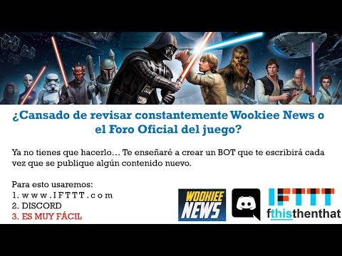 Crear BOT de Wookiee News para DISCORD - SWGoH Español