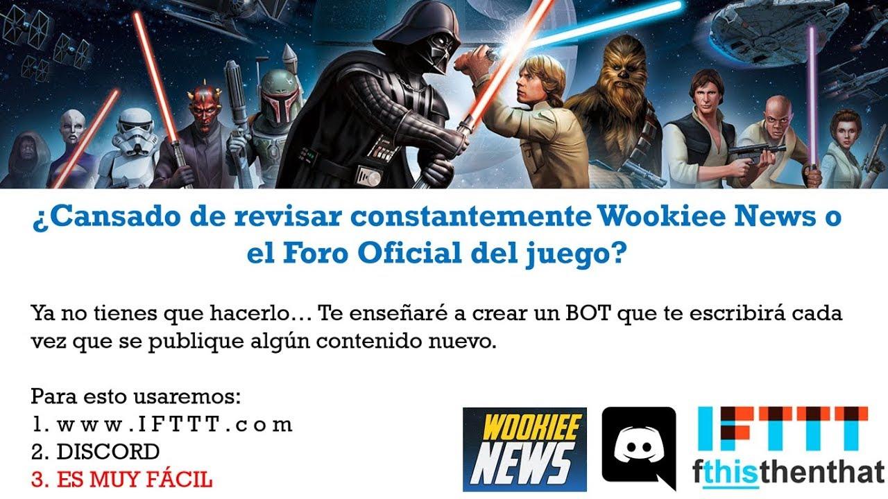 Crear BOT de Wookiee News para DISCORD - SWGoH Español Latino