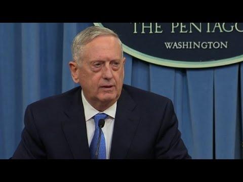 Mattis: No doubt Syria behind gas attack