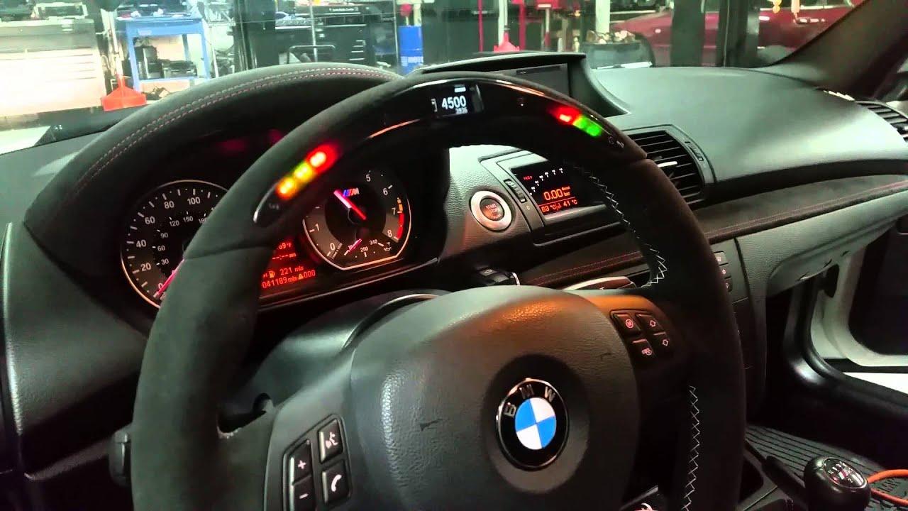 BMW 1M - BMW PERFORMANCE STEERING WHEEL INSTALLE - YouTube