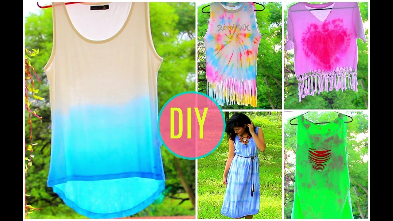 How To Tie Dye Clothes At Home Diy Clothes
