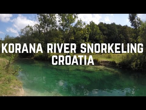 Snorkeling in the Korana River, Plitvice, Croatia