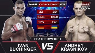 Иван Бухингер vs Андрей Красников, M-1 Challenge 89