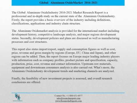 Global Aluminum Oxide Sales Market Report 2016
