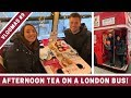 AFTERNOON TEA ON A LONDON BUS! | VLOGMAS DAY 9