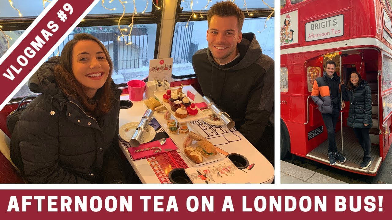 AFTERNOON TEA ON A LONDON BUS