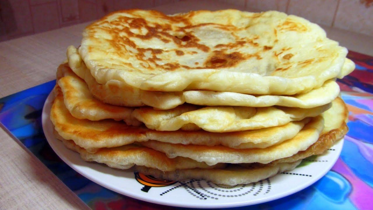 рецепт пышных лепешки домашние на сковороде на молоке