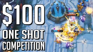 I offered you all $100 for the FLASHIEST ONE SHOT clips