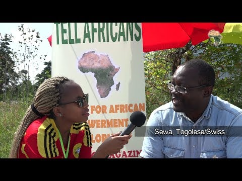 TELL Africans. Mr. Cewa a Togolese spoke with Princess M Promise at the SAF Football Feast 2017