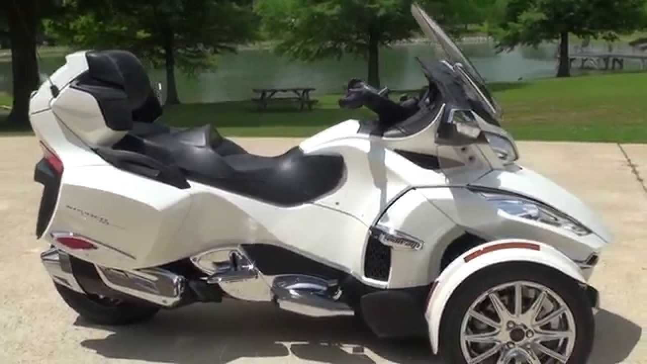 Hd video 2014 can am spyder rt limited pearl white used for sale see www sunsetmotors com youtube