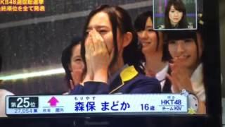 AKB48 37thシングル選抜総選挙 アンダーガールズの結果発表 17位〜32位 ...