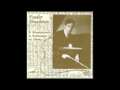 Fyodor Druzhinin - Anton Rubinstein viola sonata in F op 49 3rd movement Melodya 1977
