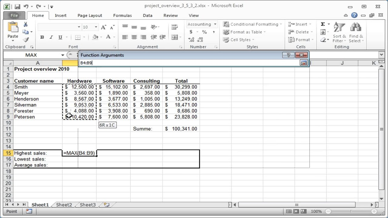 how to make a function in excel
