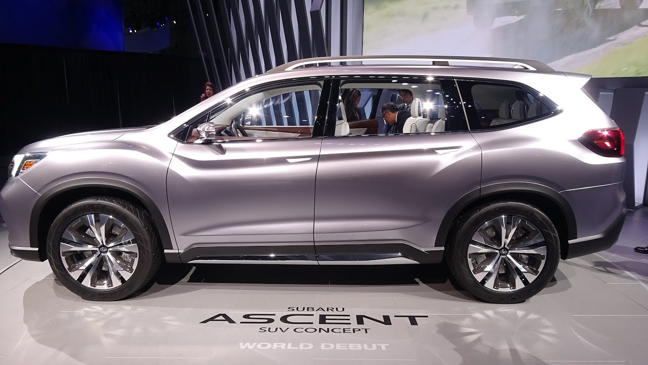 2018 subaru ascent interior. simple ascent 2018 subaru ascent suv concept  exterior interior walkaround world debut  ny auto show 2017 with subaru ascent interior