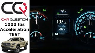 Towing Acceleration test: 2018 Toyota Tacoma Limited | 0-60 / 0-100km/h