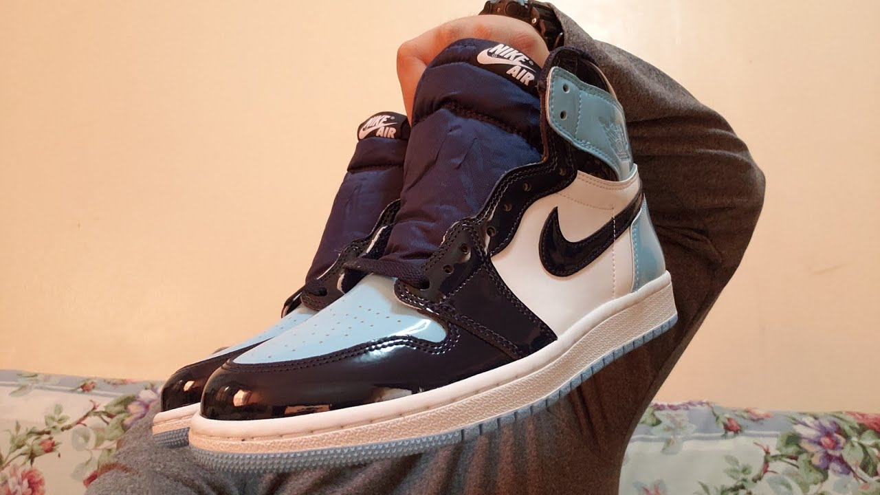 ceab35b2645ed6 Women s Air Jordan 1 UNC patent leather pickup vlog + unboxing and review
