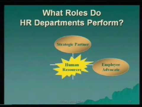 Roles of Human Resource Department