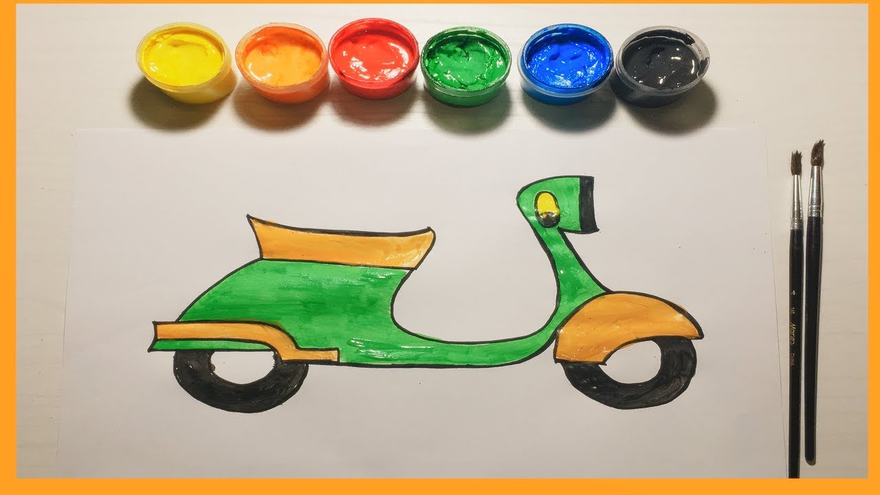 Colorful Motor Painting Fun Children Video Renkli Motor Boyama