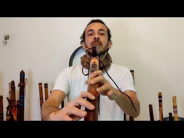 NAF - Flöte B Bass im indianischen Stil