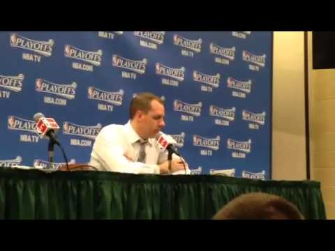 Frank Vogel talks about Luis Scola stepping up in Game 2