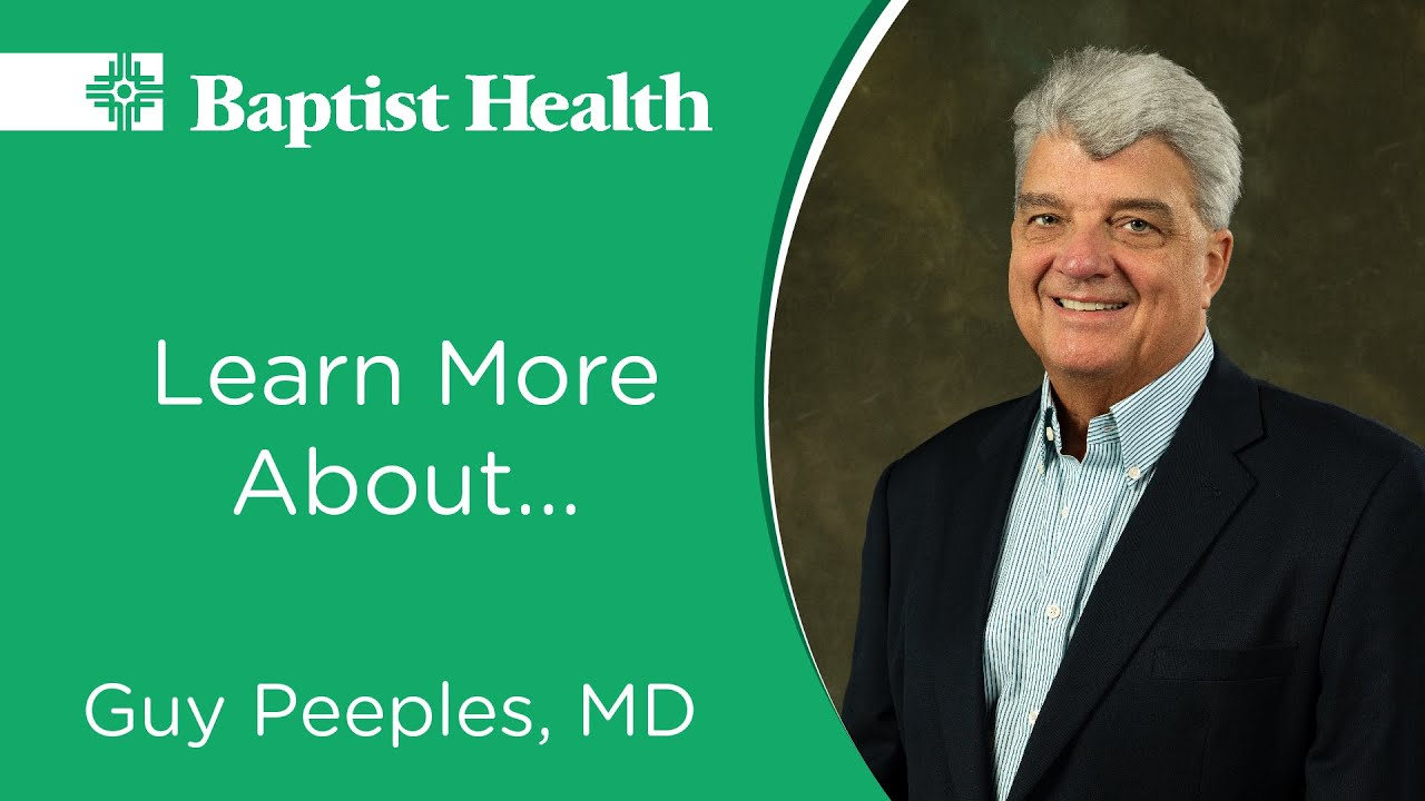 Get to Know Dr. Guy Peeples, General Surgeon, Baptist Health-Conway #Generalsurgery