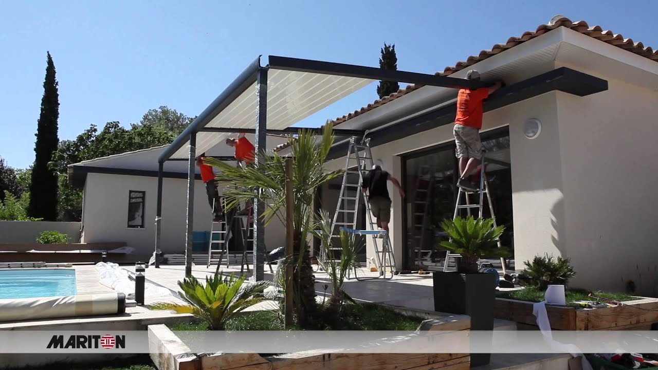 Pose D 39 Une Pergola Bioclimatique Mariton Youtube