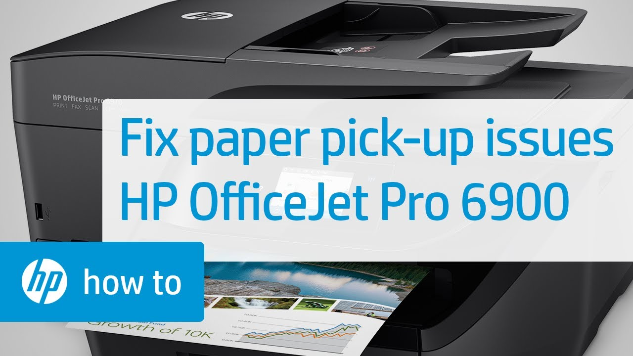 Fixing Your HP OfficeJet Pro 6900 Printer When It Does Not Pick Up Paper |  HP OfficeJet| HP