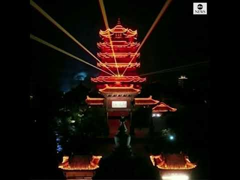 Wuhan Celebrates Lifting Coronavirus Outbreak Travel Restrictions With Light Show | ABC News