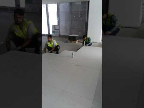 Raised floors and carpit tiles  insulation. In Saudi Arabia