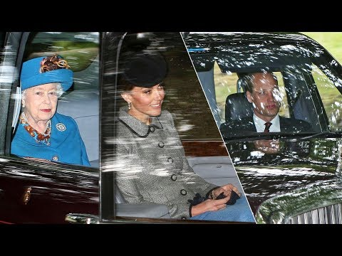 Kate & William attend church with the Queen at her summer getaway in Scotland