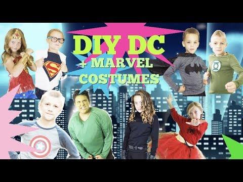 DIY DC and MARVEL Super Hero Halloween Costumes