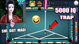 This GIRL In 8 Ball Pool Got DESTROYED By a 5000 IQ TROLL (HER BALL GOT TRAPPED)