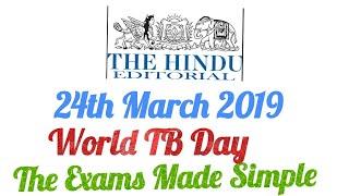 The Hindu Newspaper 24th March 2019