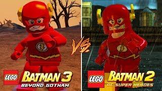 LEGO Batman 3 vs LEGO Batman 2: DC Super Heroes Characters (Side by Side Comparison) Part 1