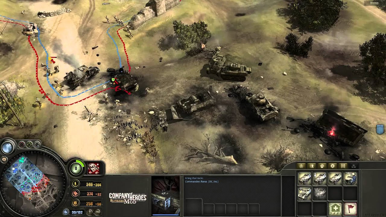 Company Of Heroes Blitzkrieg Mod 4 8 3 2 Vs 1 Expert 1 Player