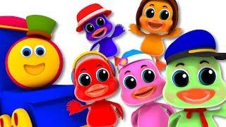Five Little Ducks | Bob The Train Cartoons | Rhymes For Kids
