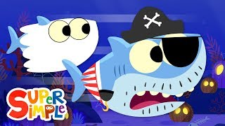 Baby Shark Halloween | featuring Finny The Shark | Super Simple Songs