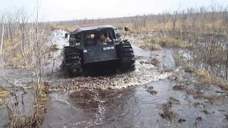 Вездеход Шерп по болоту