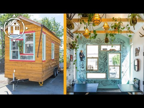 Bohemian Gal's Funky Tiny House in British Columbia