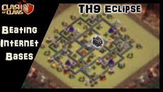"Clash of Clans | How to beat ""The Eclipse"" TH9 base using Shattered LaLoon"