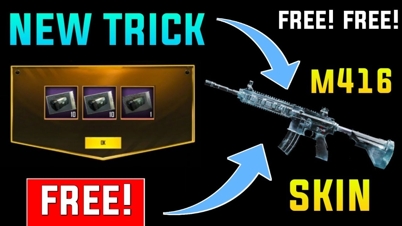 how to get free skin pubg