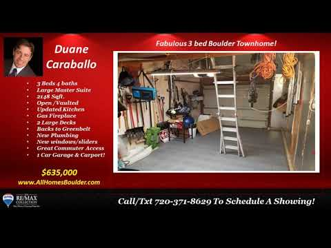 3 bed 3 bath  Boulder homes for sale