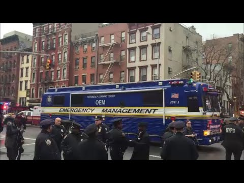 NYC Interagency Command Center Office Of Emergency Management Responding To Gas Explosion & Collapse