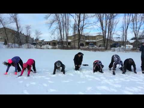 Marinette Middle School Fit For Life Snow Burpees!!!!